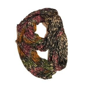 Soft Leopard Print Multi-Color Infinity Scarf